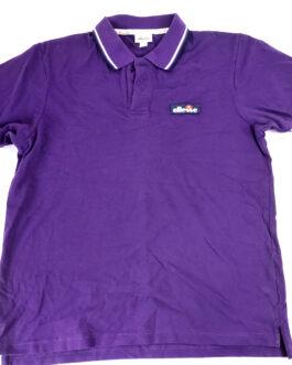 ELLESSE Polo Shirt Casual Classic Purple Size L Large