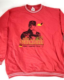 MICHAEL SCHUMACHER Sweatshirt Vintage Classic XL Extra Large Red Formula 1