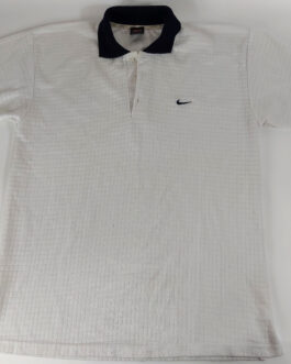 NIKE Vintage 90s Polo Shirt Casual Classic White Size XL Extra Large