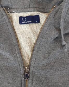 FRED PERRY Hoodie Blouse Sweatshirt Casual Classic Grey M Medium