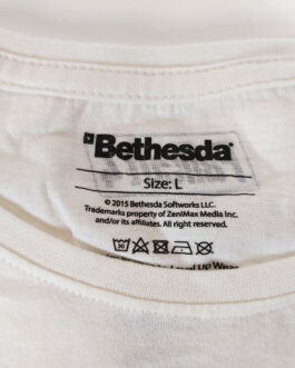 FALLOUT 4 2015 T-Shirt Casual Classic White Size L Large Bethesda