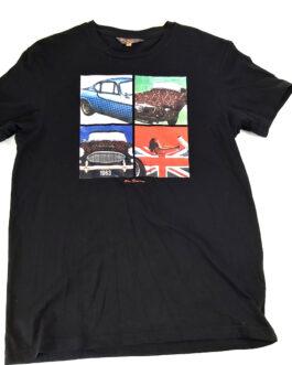 BEN SHERMAN Vintage T-Shirt Casual Classic Black Size M Medium