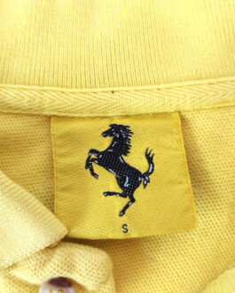 Scuderia FERRARI 1995 Polo Shirt Casual Vintage Classic Yellow S Small Formula 1