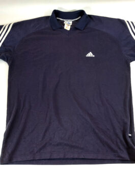 ADIDAS 90s Vintage T-Shirt Casual Classic Navy Blue Size XL Extra Large
