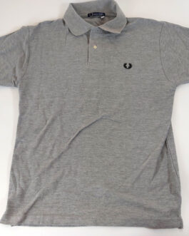 FRED PERRY Polo Shirt Casual Classic Grey S Small