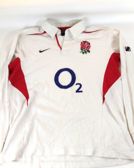 ENGLAND RUGBY 2003/05 Nike White L/S Shirt Jersey Rugby Union XL Extra Large