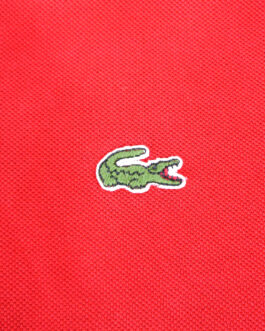 LACOSTE Polo Shirt Casual Classic Red Size 5 L Large