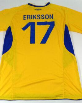 2019 SWEDEN Home Football Shirt XL Extra Large Yellow Umbro #17 ERIKSSON