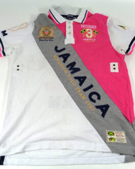 GEOGRAPHICAL NORWAY JAMAICA Polo Shirt Casual Classic Pink Size L Large #3