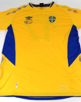2019 SWEDEN Home Football Shirt XXL 2XL Yellow Umbro #17 ERIKSSON