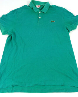 LACOSTE Live! Polo Shirt Casual Classic Green Size L Large 5