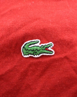 LACOSTE T-Shirt Casual Classic Red Size M Medium