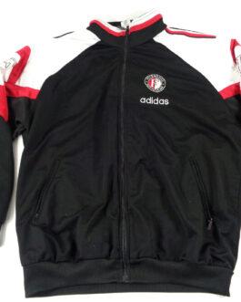 FEYENOORD ROTTERDAM 90s Track Jacket Training Football Shirt L Large Adidas