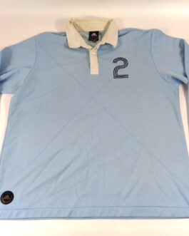ADIDAS Rugby Polo Shirt Casual Vintage Classic Blue XL Extra Large