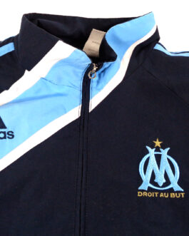 2009/10 OLYMPIQUE MARSEILLE Track Jacket Training Football Shirt L Large Adidas