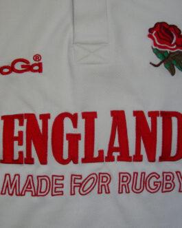 ENGLAND Rugby Union Shirt Jersey Vintage White L Large KOOGA