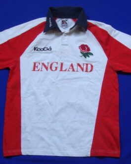 ENGLAND Rugby Union Shirt Jersey Vintage White S Small KOOGA