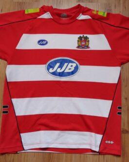 WIGAN WARRIORIS Rugby Union Vintage Shirt Jersey L Large JJB